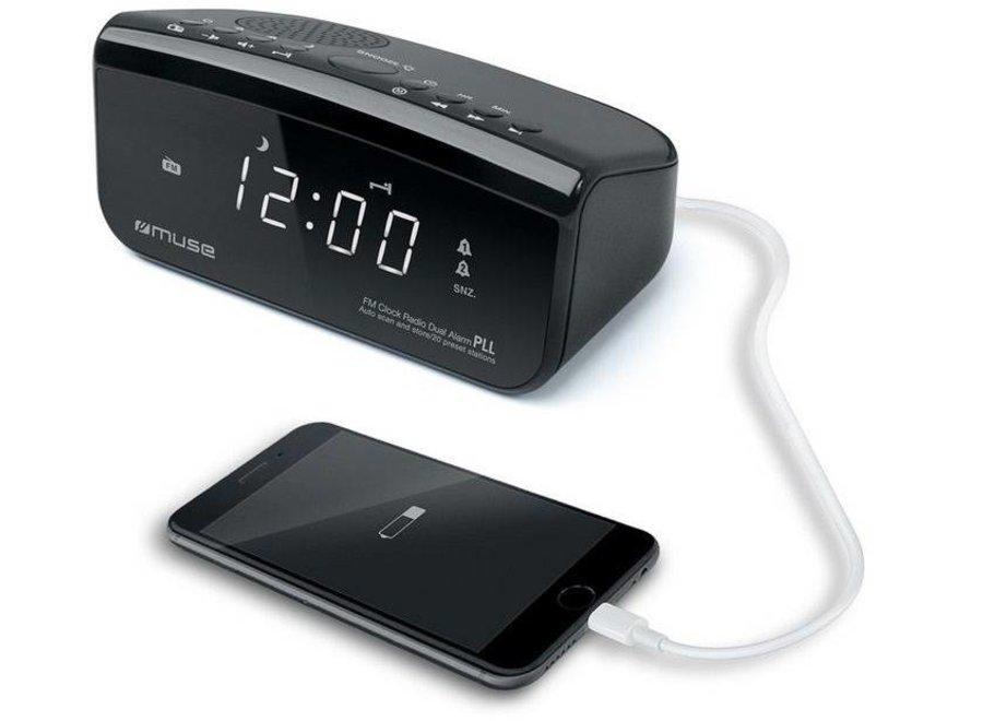 Muse M-16 CR Wekkerradio met USB-aansluiting