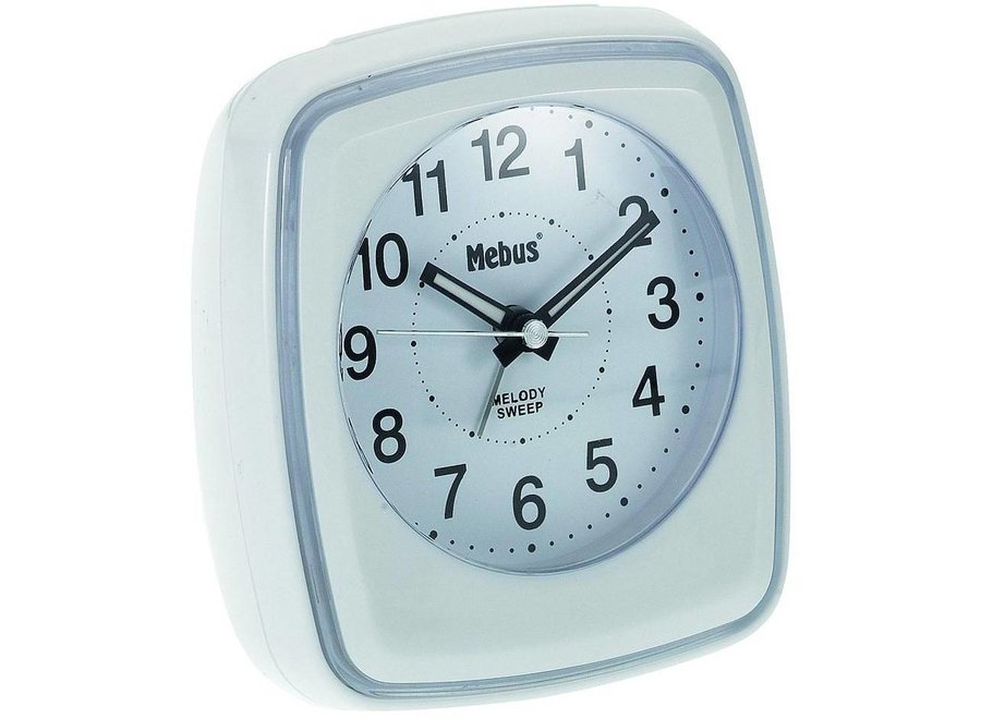 Mebus 42167 Kwarts Wekker - Wit