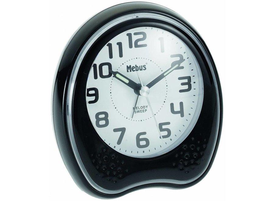 Mebus 42168 Kwarts Wekker - Zwart