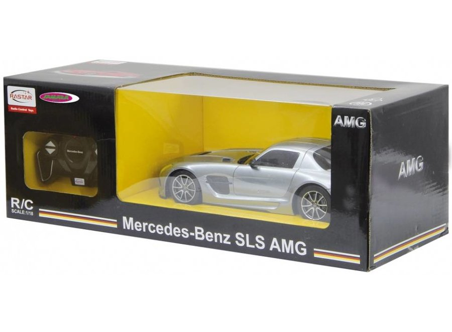 Jamara Mercedes SLS AMG BS RC 1:18 - Zilver