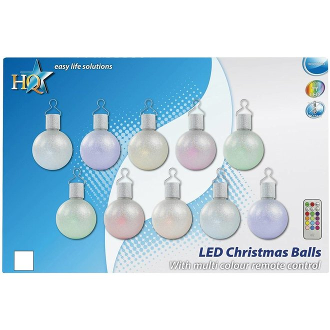 HQ LED Multicolour Kerstballen + Afstandsbediening