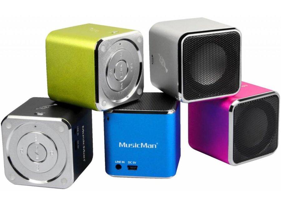 MusicMan MP3 Speler AUX, SD, USB - Zwart