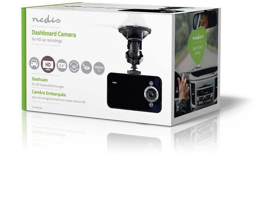 """Nedis DCAM05BK Dashcam HD 720p - 2.4"""""""