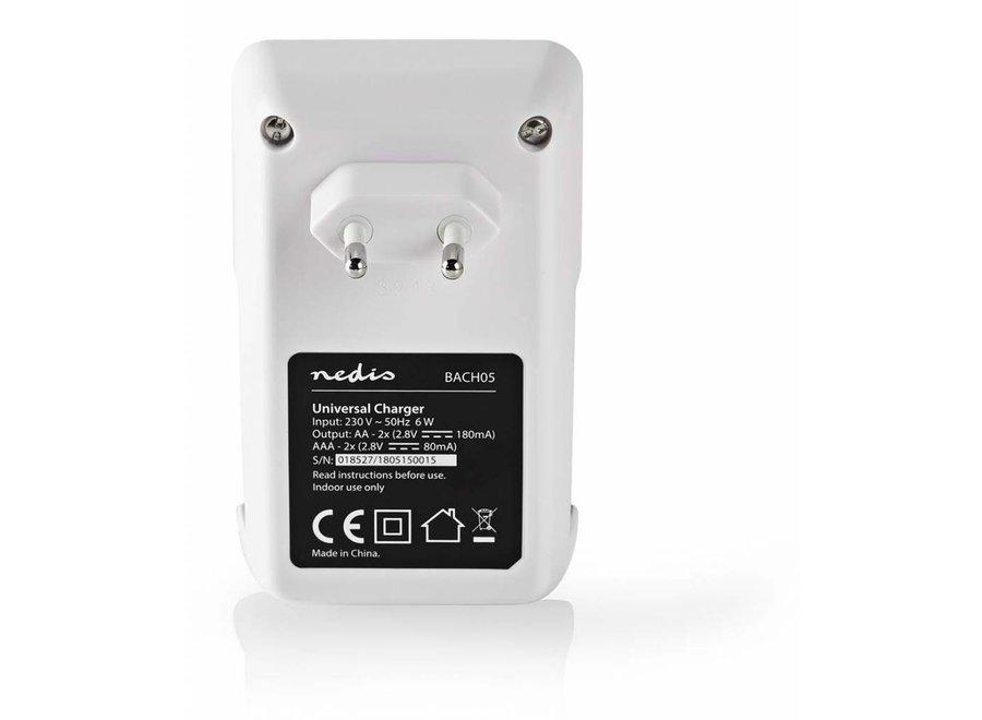 Nedis BACH05 Batterijlader AA/AAA