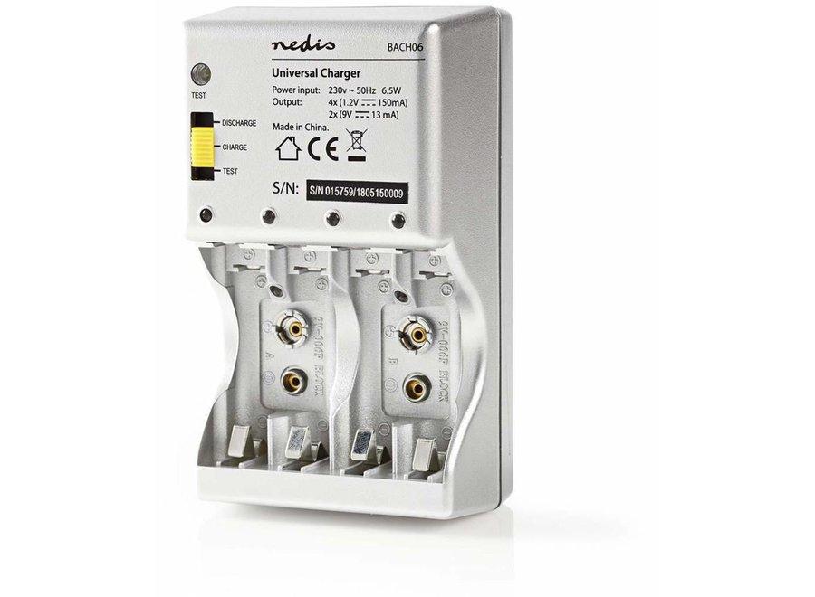 Nedis BACH06 Batterijlader AA/AAA/E-Blok