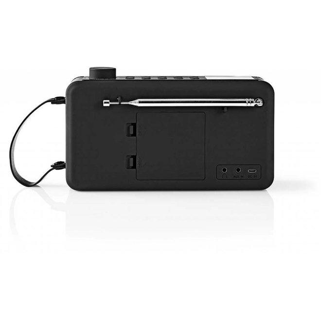 Nedis RDDB4300BK DAB+ Radio Bluetooth - 12 W - Zwart