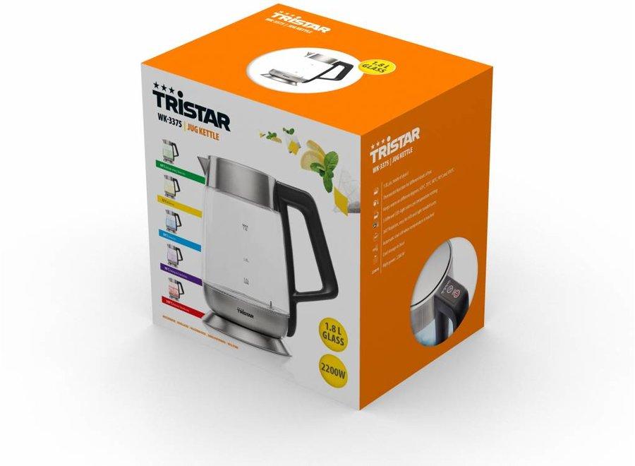 Tristar WK-3375 Glazen LED Waterkoker met Thermostaat