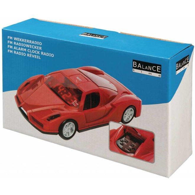 Balance Time Autodesign LED Wekkerradio Digitaal - Rood