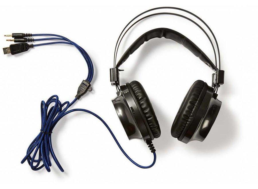 Nedis GHST400BK LED Gaming Headset