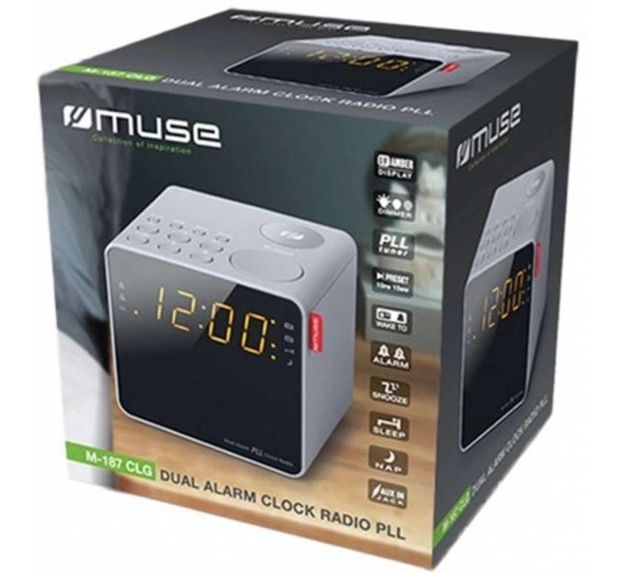 Muse M-187 CLG LED Wekkerradio - Grijs