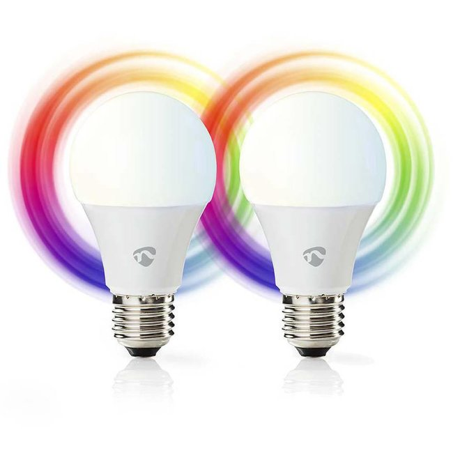 Nedis WIFILC20WTE27 E27 Smart LED Lampen Colours - 2-pack