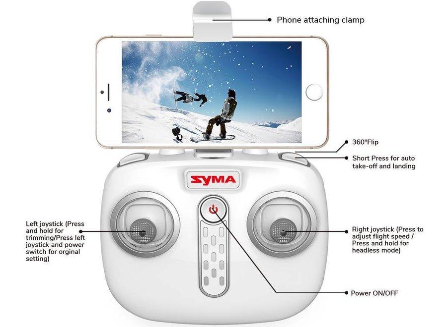Syma X15W Wi-Fi FPV Quadcopter met 720P HD Camera - Wit