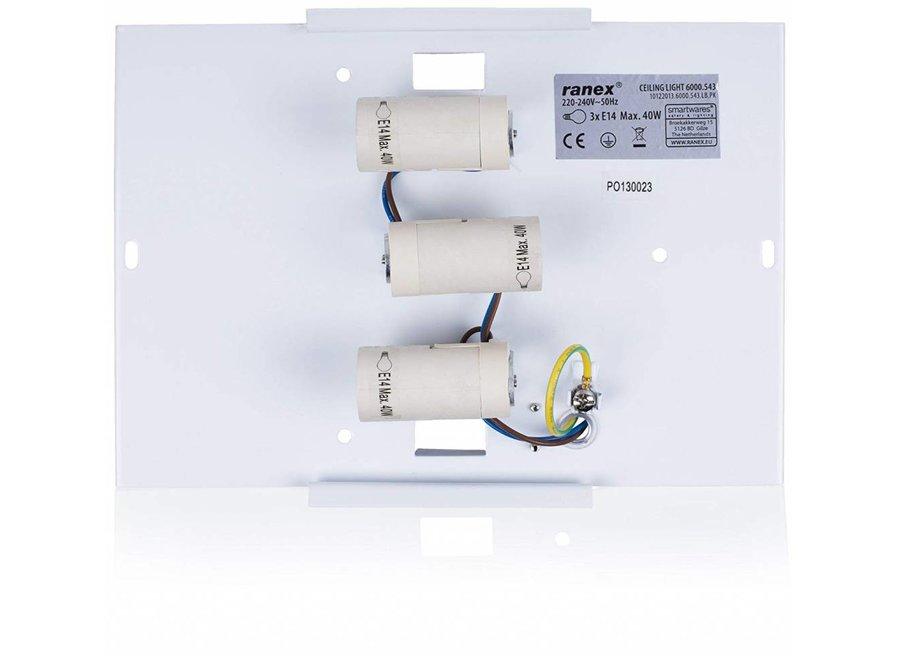 Smartwares 6000.544 Mia LED Plafondlamp 40 cm - Grijs