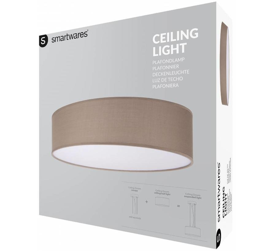 Smartwares 6000.545 Mia LED Plafondlamp 40 cm - Bruin