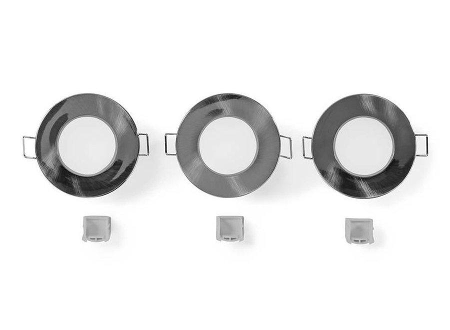 Nedis LEDSDOWNL3P LED Inbouwspot 2700 K - 3-pack