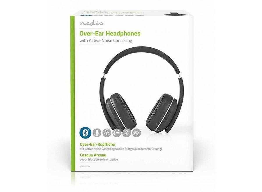 Nedis HPBT3260BK Over-ear Bluetooth Koptelefoon - Zwart/Grijs