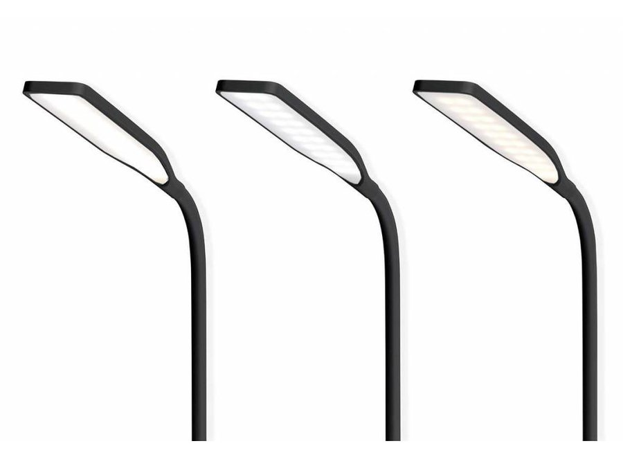 Nedis LTLGQ3M1BK Touch LED Tafellamp met Draadloze Qi Oplader - Zwart