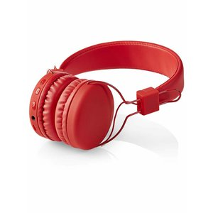 Nedis Nedis HPBT1100RD On-ear Bluetooth Koptelefoon - Rood