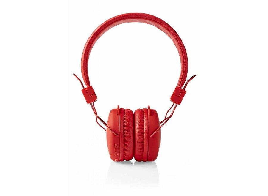 Nedis HPBT1100RD On-ear Bluetooth Koptelefoon - Rood