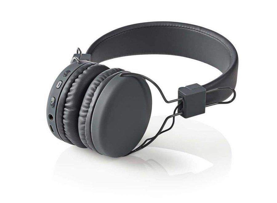 Nedis HPBT1100GY On-ear Bluetooth Koptelefoon