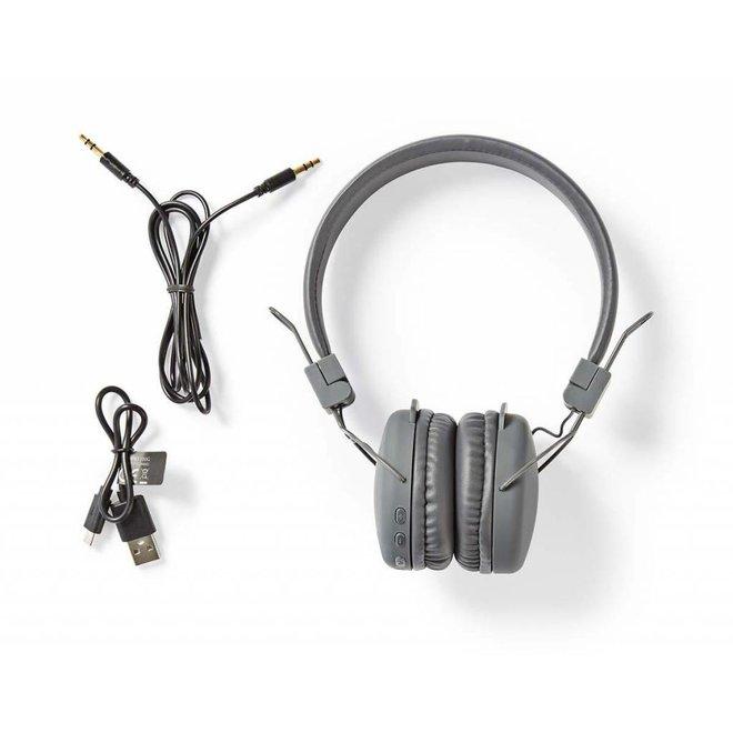 Nedis HPBT1100GY On-ear Bluetooth Koptelefoon - Grijs