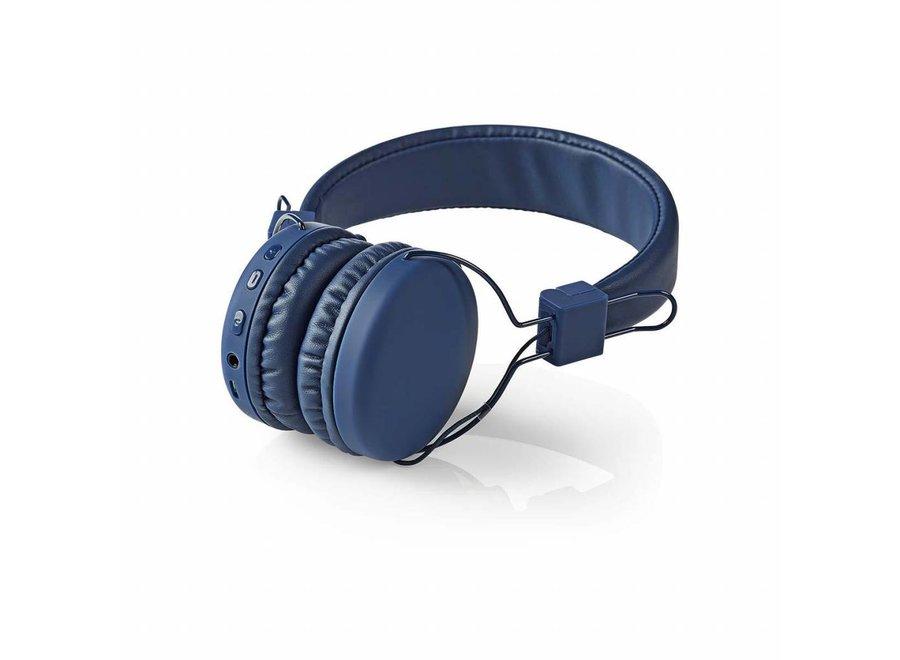 Nedis HPBT1100BU On-ear Bluetooth Koptelefoon - Blauw
