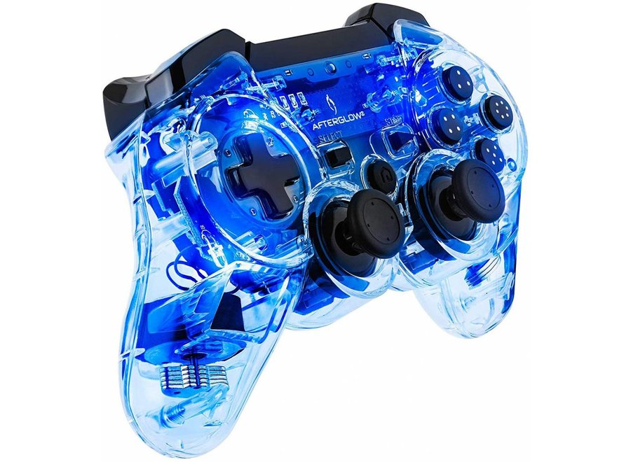 PDP Afterglow Draadloze Pro Controller PS3 - Blauw