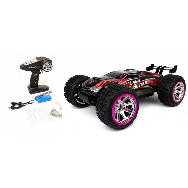 NQD Land Buster Monster Truck RTR 2.4GHz 1:12 - Rood