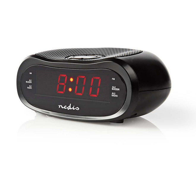 "Nedis CLAR001BK Digitale LED Wekkerradio - 0.6"""