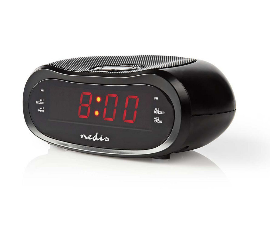 Nedis CLAR001BK Digitale LED Wekkerradio - 0.6""