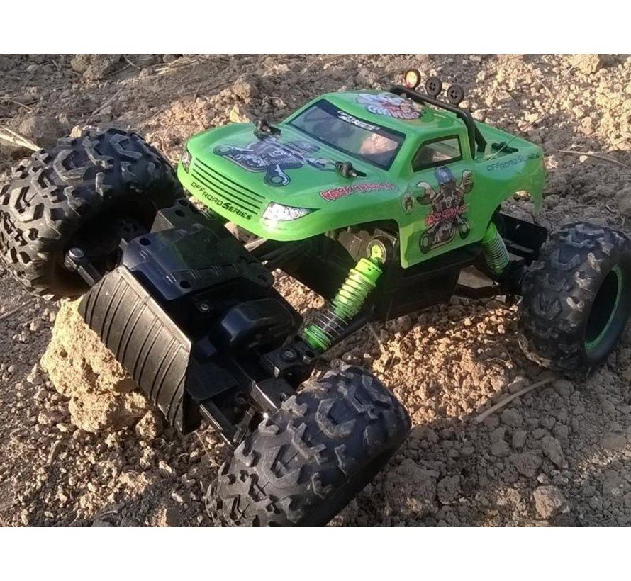 NQD KX8396 Rock Crawler Monster Truck RC 27MHz 1:12 - Groen