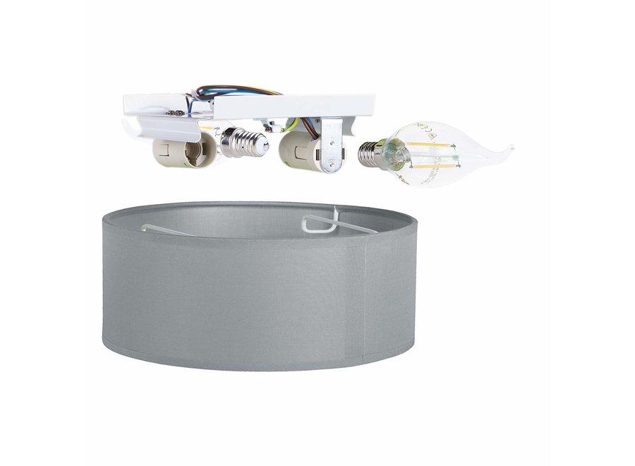 Smartwares 6000.539 Mia LED Plafondlamp 30 cm - Grijs