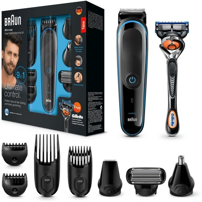 Braun MGK3085 Multigroom 9-in-1 met Gillette