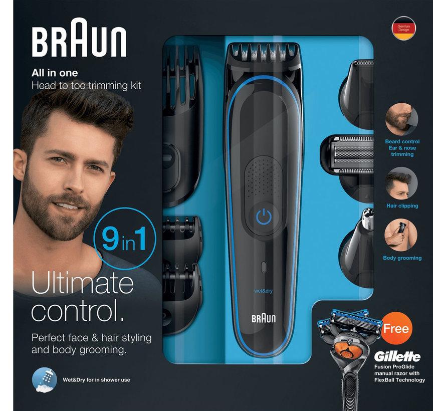 Braun MGK3085 Multigroom 9-in-1 met Gillette Fusion ProGlide Scheermes