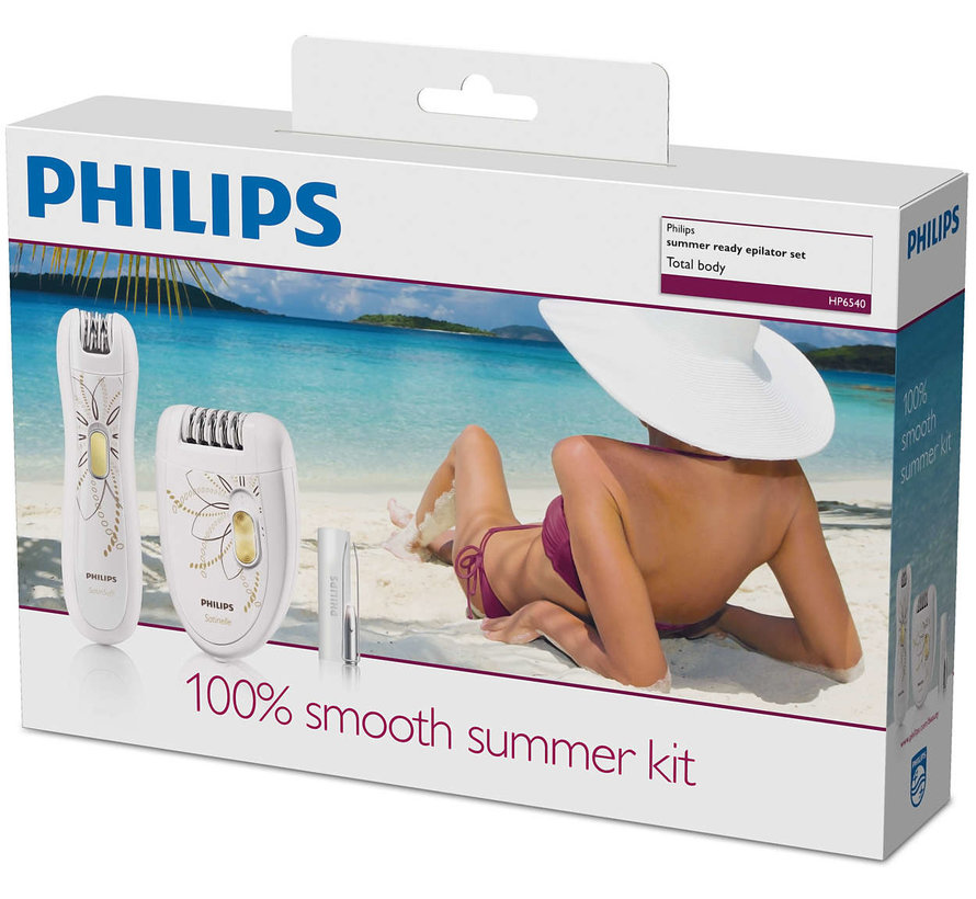 Philips HP6540/00 Epilator met Precisie-trimmer en Pincet