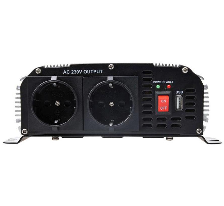 ProPlus Sinus-omvormer 12-230V met USB - 300 W/600 W
