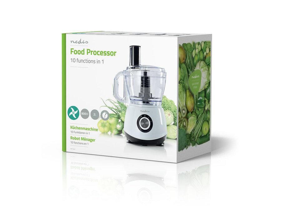 Nedis Foodprocessor KAFP110CWT 800 W - 10-in-1