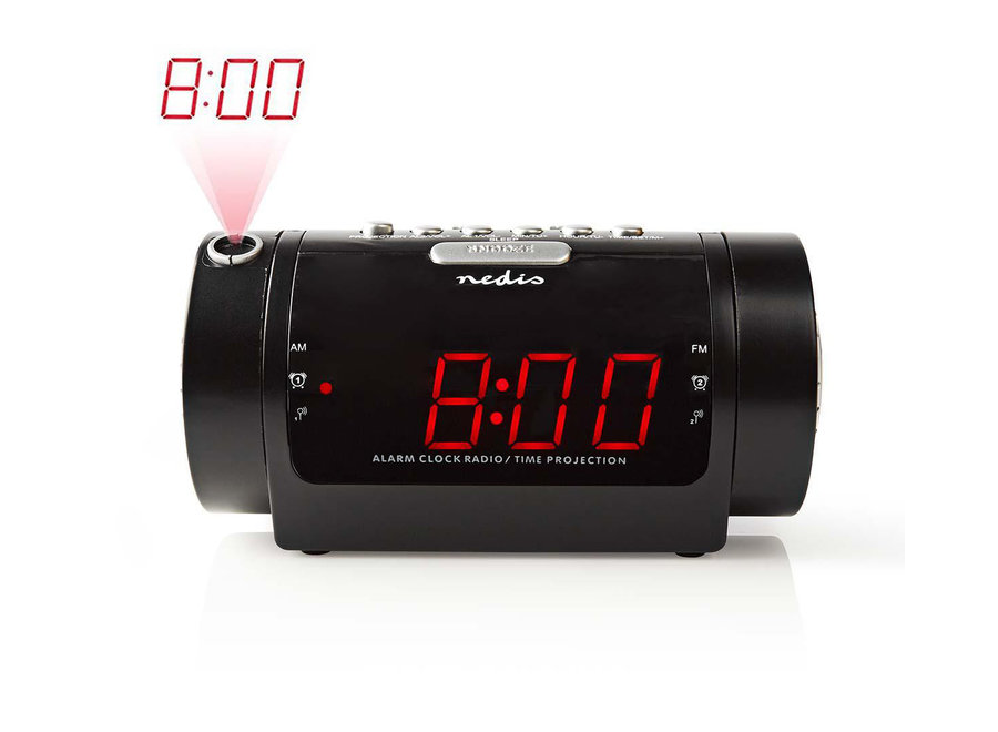 Nedis CLAR005BK Digitale LED Wekkerradio