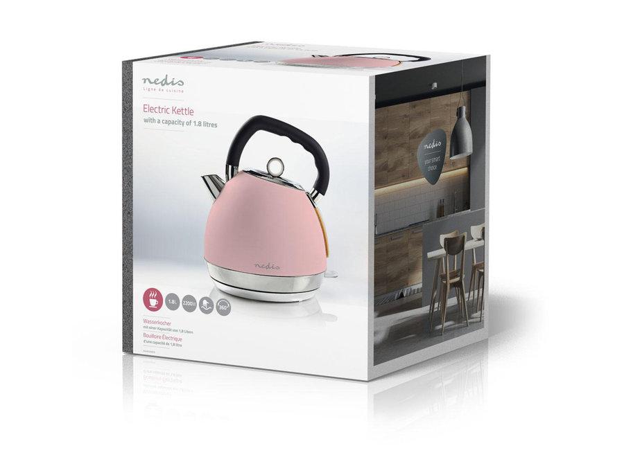 Nedis KAWK520EPK Elektrische Waterkoker Soft-touch 1,8L - Roze