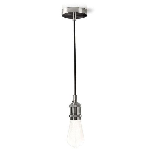 Nedis Nedis LPHLE27SI Hanglamp E27 - Staal