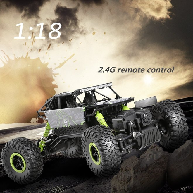 HB P1803 Monster Truck RTR 4WD 2.4GHz 1:18 - Groen