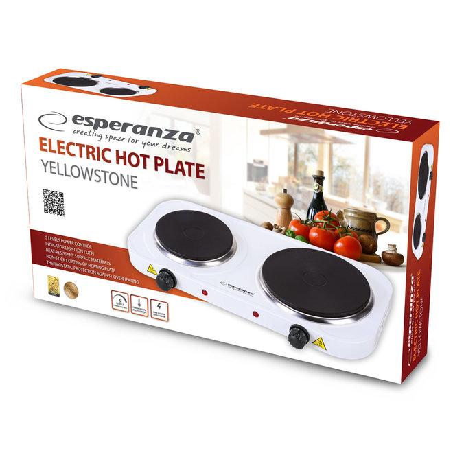 Esperanza Yellowstone Elektrische Kookplaat 1000W + 1500W