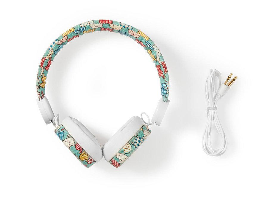 Nedis HPWD4100WT On-Ear Bedrade Koptelefoon - Olifant