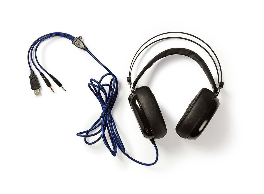 Nedis GHST300BK Axilor Over-ear LED Gaming Headset