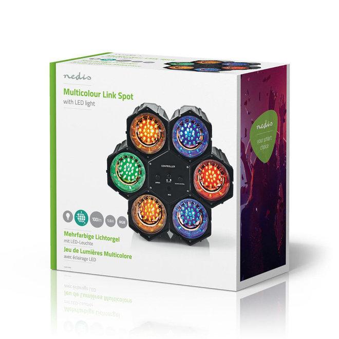 Nedis FUDI211BK6 LED Discolamp Kleurenspots