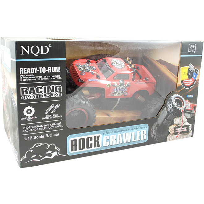 NQD 757-4WD05 Rock Crawler RTR 4WD 27MHz 1:12 - Rood