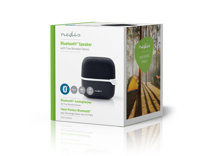 Nedis SPBT1000WT Bluetooth Speaker 15 W - Zwart/Wit