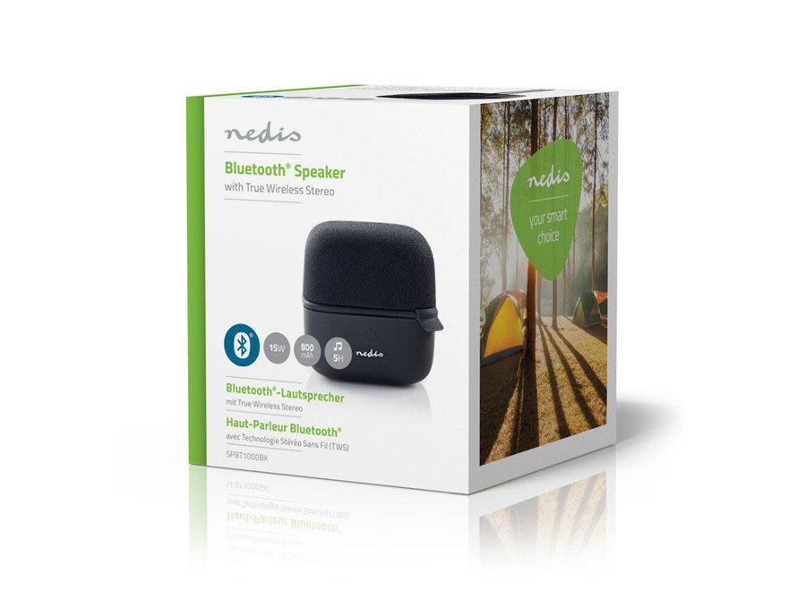 Nedis SPBT1000BK Bluetooth Speaker 15 W - Zwart/Zwart