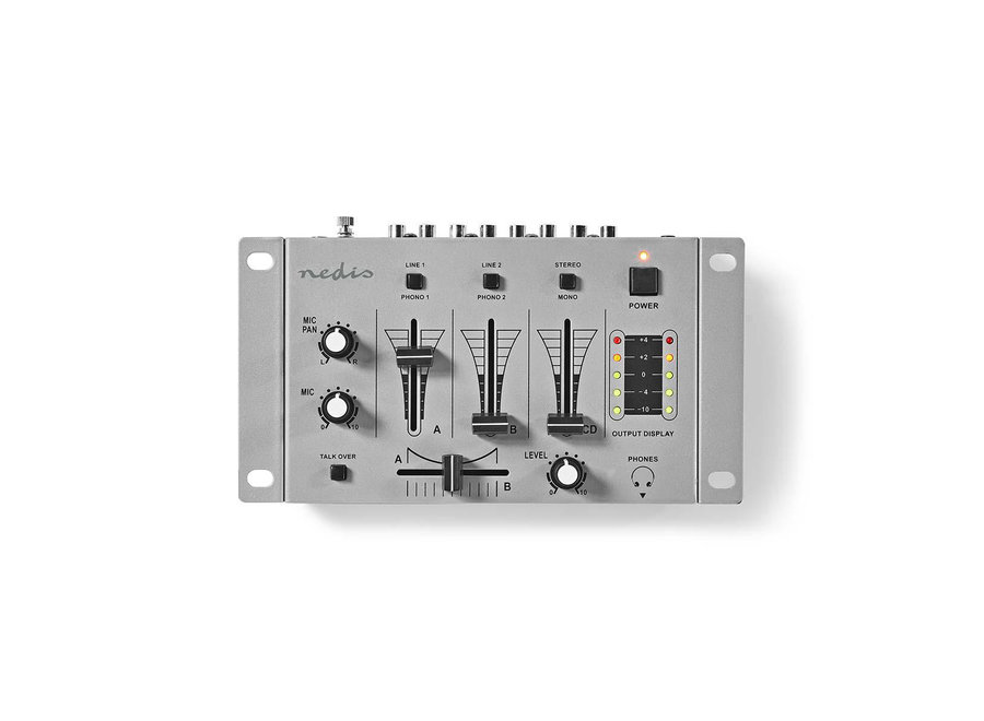 Nedis MIXD050GY DJ-mixer 3 Stereokanalen