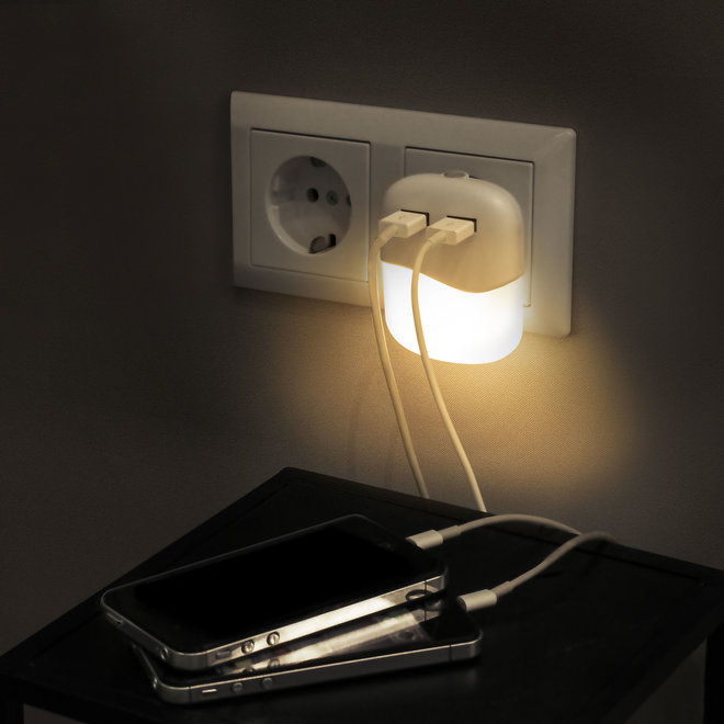 Smartwares ISL-60026 LED Nachtlamp met USB Poorten